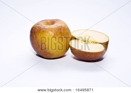 rotten apple isolated