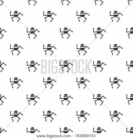 Robot pattern. Simple illustration of robot vector pattern for web