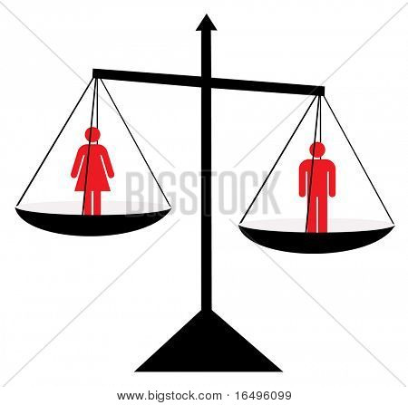 Balance, vector illustration, man/woman