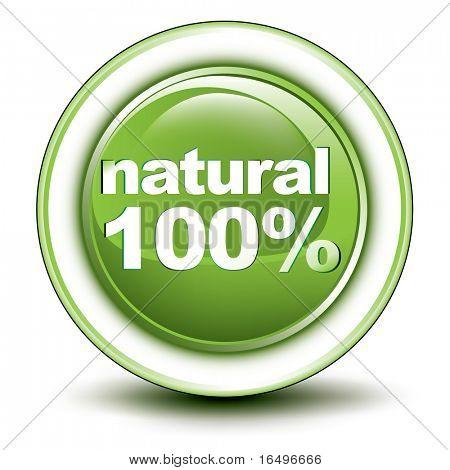environmental web push button icon / natural design / vector