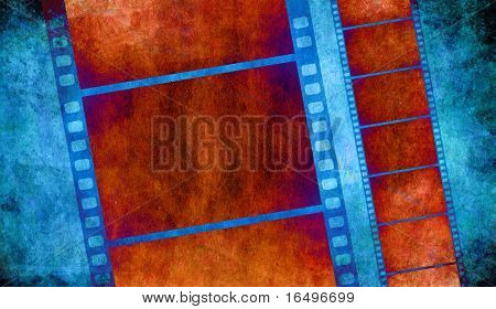 retro grunge experimental background with film strips - check out my portfolio for more