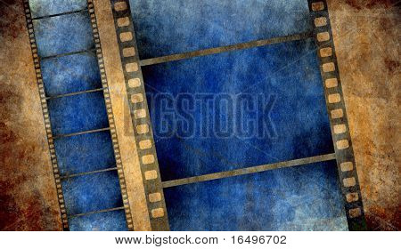 retro grunge background with film strips - check out my portfolio for more