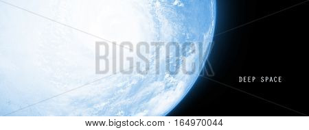 Celestial Art Earth Planet in Deep Space Showing the Beauty of Space exploration. Planet Texture furnished by NASA 3d Render 3d Illustration