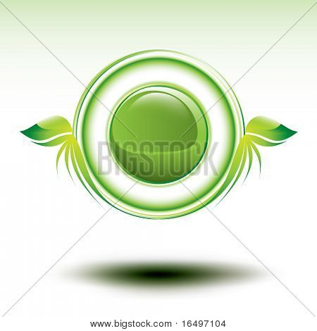 shiny green environmental vector symbol