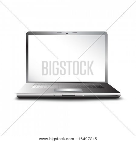 laptop with empty space for your text - vector illustration