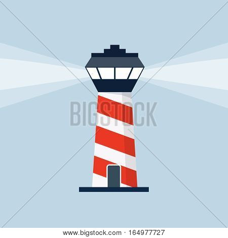 Control tower illustration, design element for mobile and web applications, eps 10