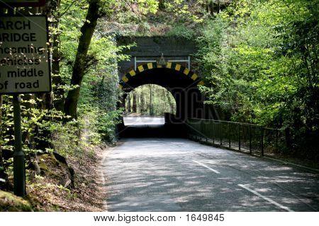 gewölbte Brücke