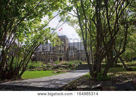 Banff, Canada - September 1, 2016: Parks Canada Administration B