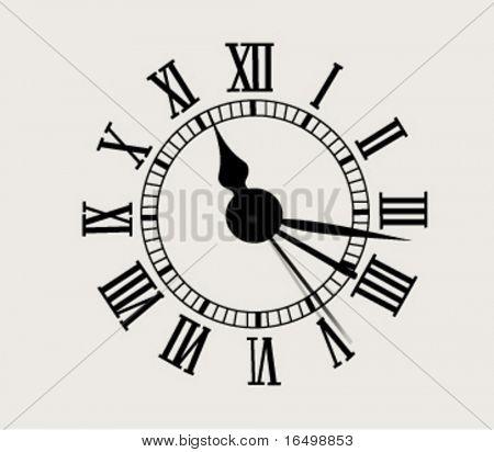 antique clock face - vector illustration
