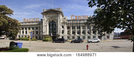 Vancouver, Canada - August 29, 2016: Pacyfic Central Building On