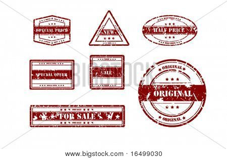 Set of Sale Related Vector Stamps