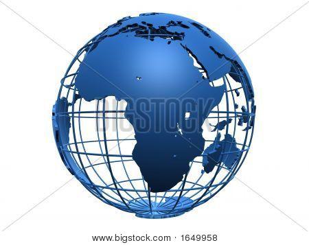 Blue Metal Globe