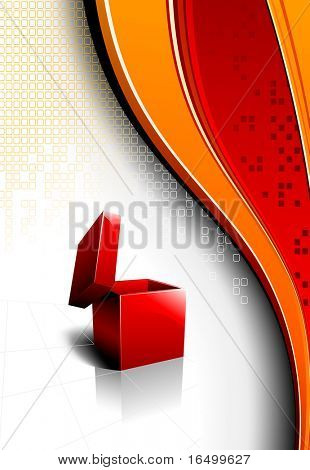 Abstract Background with an Open Red Box