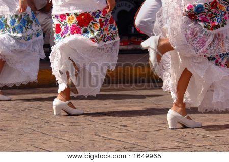 Folklore Dancers In Merida