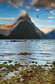 Mitre Peak at sunrise, Fiord Milford Sound, New Zealand