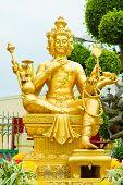 image of brahma  - Gold statue of Brahma statuette of hindu god - JPG