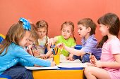 foto of arts crafts  - Art and craft activity in the kindergarten - JPG
