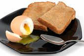 Soft Boiled Egg And Toast poster