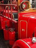 stock photo of fire truck  - Vintage Fire Truck - JPG