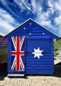 stock photo of beach-house  - Bathing box on Melbourne - JPG