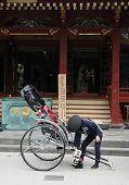 stock photo of rickshaw  - Rickshaw in Tokyo Japan - JPG