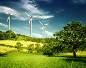 stock photo of wind wheel  - Windmill - JPG