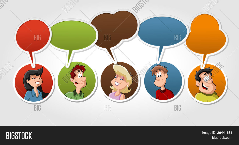 Vectores Y Fotos En Stock De Grupo De Dibujos Animados