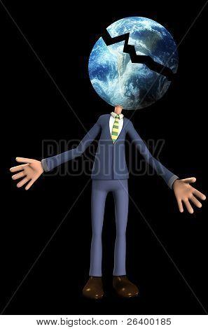 Broken Earth Head