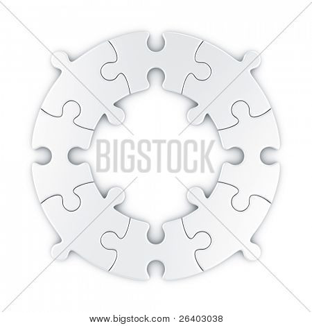 3d rendering of a circular puzzle