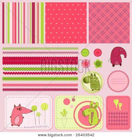 Design-Elemente für Baby-scrapbook
