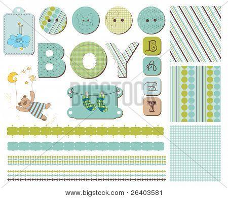 Baby Sammelalbum Design-Elemente