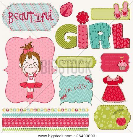 Scrapbook Girl Set - design elements
