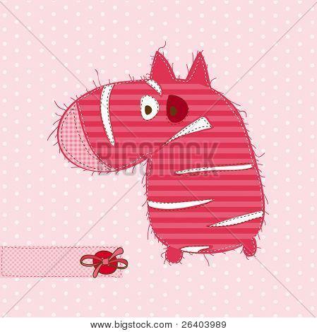 Grußkarte mit Zebra für einklebebuch Einladung, Feier mit Platz für Ihren text