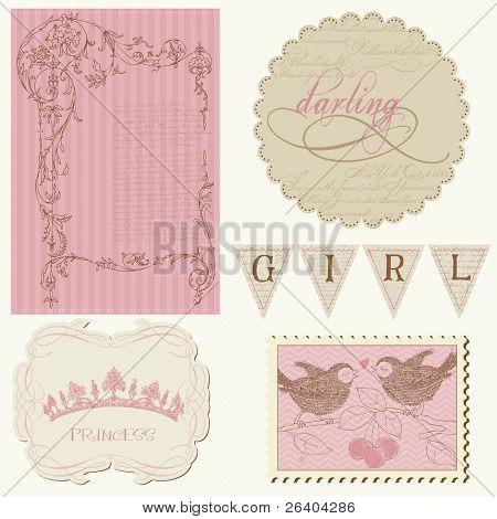 Scrapbook design elements - Beautiful Girl
