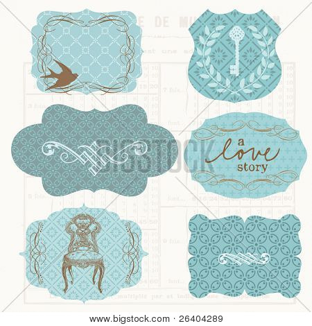 Vintage Design frames and elements for scrapbook