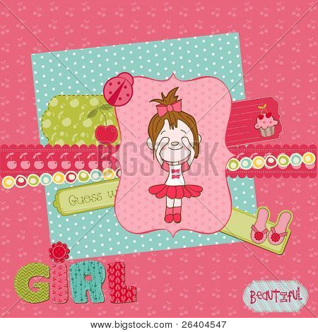 Scrapbook design elements - Cute Baby Girl Set
