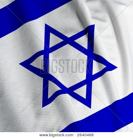 Israeli Flag Closeup