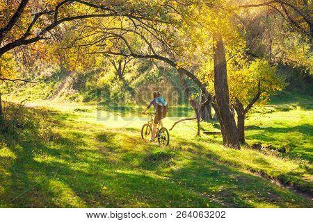 Biking In The Forest Girl