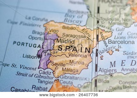Macro Globe Map Detail 21 Spain
