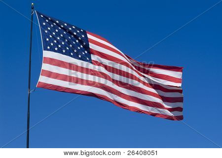 United States of American stars and stripes Flag waving �� series ��