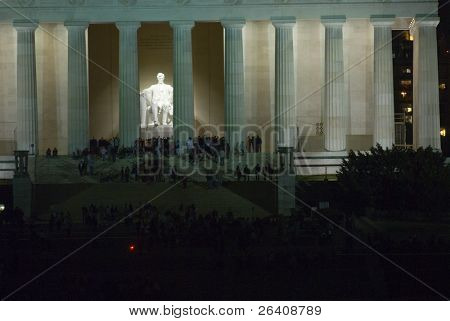 Lincoln Memorial noche Washington DC viajes serie 01