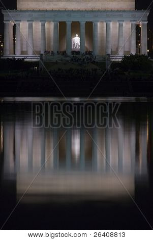 Lincoln Memorial night Washington DC travel series 11
