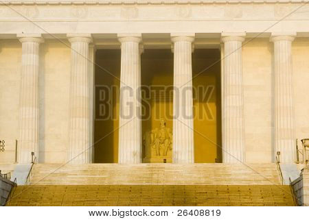 Lincoln Memorial sunrise Washington DC travel series 14