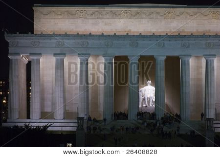 Lincoln Memorial Nacht Washington dc Reisen Serie 15