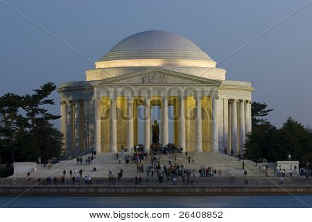 Jefferson Memorial night Washington DC travel series 26