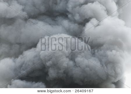 Black smoke cloud series - 09