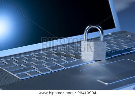 internet cyber laptop computer security lock