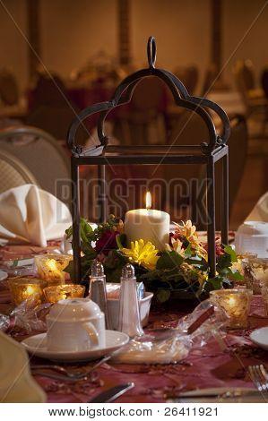 Wedding reception party table center piece