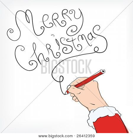 Christmas postal with congratulation from Santa Claus