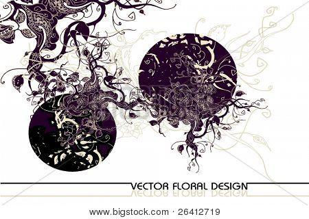 abstrakt retro Vector floral design